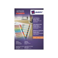 Avery ReadyIndex Dividers With Coloured Mylar Tabs 1-20 Code 01966501