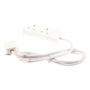 Extension Lead 2-Way Socket 4m Cable
