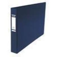 Elba Vision Ring Binder PVC Front Pocket 2 O-Ring A3 Landscape Blue Ref 100082460 [Pack 2]