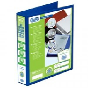 Elba Presentation Ring Binder PVC 4 D-Ring 40mm Capacity A4 Blue Ref 400008418 [Pack 6]