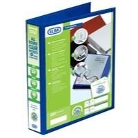 Elba Presentation Ring Binder PVC 4 D-Ring 40mm Capacity A4 Blue Ref 400008418 [Pack 6]
