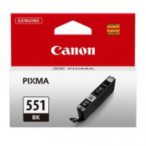 Canon CLI-551BK Inkjet Cartridge Page Life 495pp Photos Black Ref 6508B001