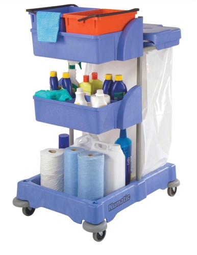 Numatic Xtra Compact XC3 Cleaning Trolley with 2 Buckets and 2 Tray Units Code 758039
