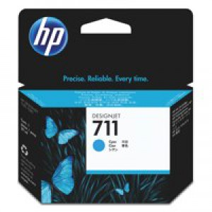 HP No.711 Inkjet Cartridge Cyan Code CZ130A