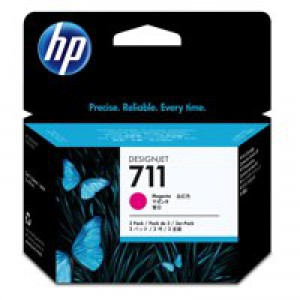 HP No.711 Inkjet Cartridge 29ml Magenta 3 Pack Code CZ135A