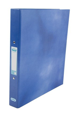 Elba Classy Ring Binder A4 2 O Ring 25mm Laminated Blue