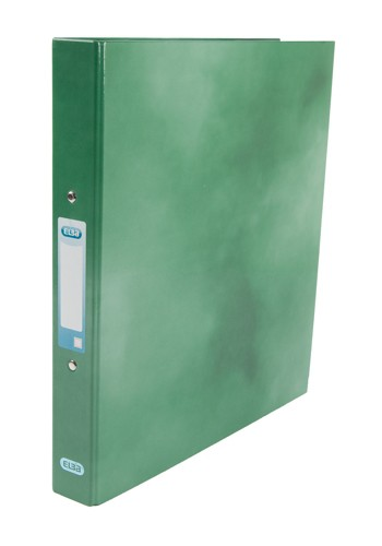 Elba Classy Ring Binder A4 2 O Ring 25mm Laminated Green