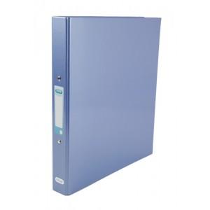 Elba Ring Binder Laminated Gloss Finish 2 O-Ring 25mm Size A4 Metallic Blue Ref 400017757