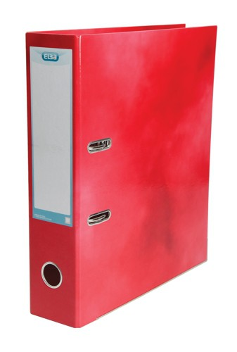Elba Classy Lever Arch File A4 Laminated Paper On Board Red