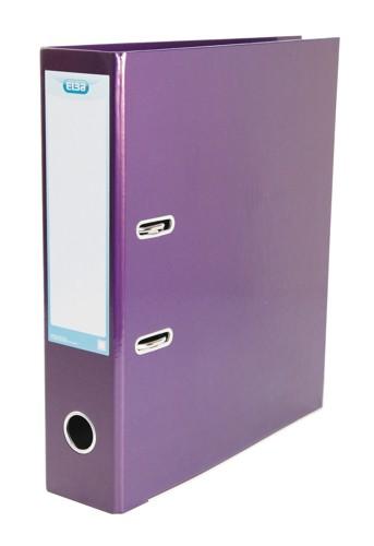 Elba Classy Lever Arch File A4 Laminated Paper On Board Metallic Purple