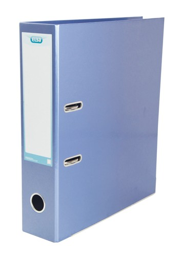 Elba Lever Arch File Laminated Gloss Finish 70mm Capacity A4 Metallic Blue Ref 400021023