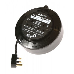 Home Mains Cable Cassette Reel 2 Socket 10metre 10amp