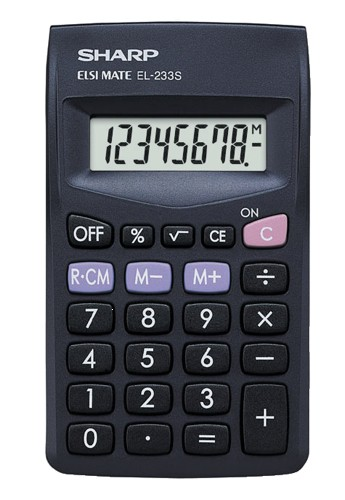 Sharp EL233SBK Pocket Calculator