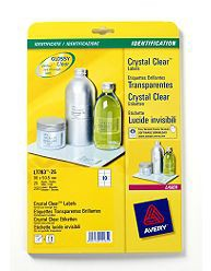 Avery Crystal Clear Labels 96x50.8mm 10 Per Sheet Pack 25 L7783-25