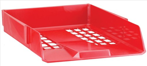 Avery Basics Letter Tray Stackable Versatile A4 Foolscap 278x390x70mm Red Code 1132RED