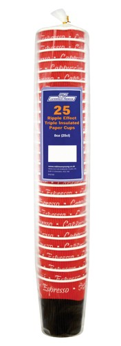 Caterpack 16oz 45cl Ripple Cups Pk25