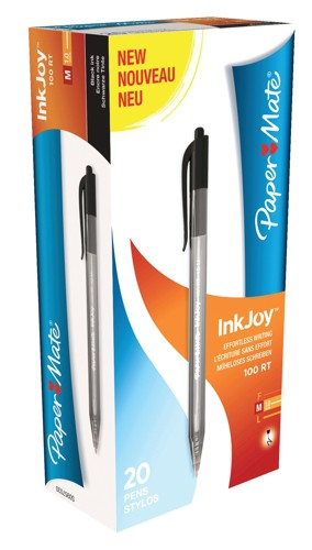 PaperMate Inkjoy 100 Retractable Ball Point Pen Black