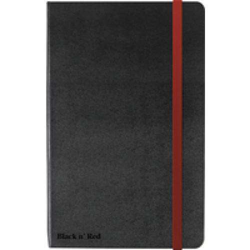 Black by BlacknRed Casebound Notebook 90gsm Ruled and Numbered 144pp A4 Ref 400038675