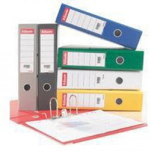 Esselte No. 1 Power Lever Arch File PP Slotted 75mm Spine A4 Yellow Ref 811310 [Pack 10]