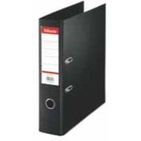 Esselte No. 1 Power Lever Arch File PP Slotted 75mm Spine A4 Black Ref 811370 [Pack 10]