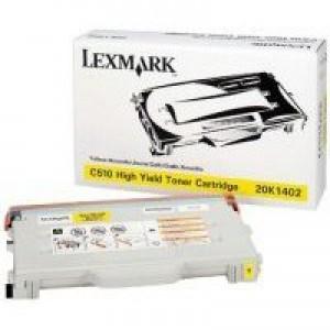 Lexmark C510 High Yield Toner Cartridge Yellow 20K1402