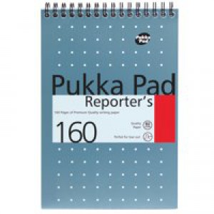Pukka Pad Reporters Notebook 160Page 80gsm 140x205mm Blue Code NM001