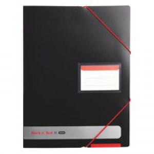 Black n Red by Elba Display Book Polypropylene Black