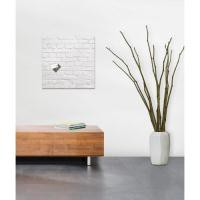 Sigel Artverum Magnetic Glass Board 480x480mm White Brick
