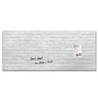 Sigel Magnetic Glass Board Artverum 1300x550mm White Stone