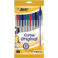 Bic Cristal Medium Ballpoint Pen in Pouch Black