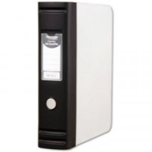 Hermes Foolscap 8cm Box File With D Ring Mechanism Black 836001 Each