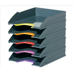 Durable Varicolor 5 Desk Top 5 Drawer Storage Unit To Hold A4 Documents