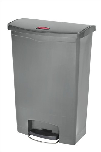 Rubbermaid Slim Step Bin 87 Litre Grey