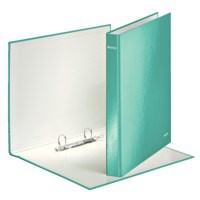 Leitz WOW Ring Binder A4 Laminated 25 mm 2 D-Ring Ice Blue