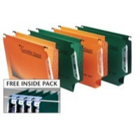 Twinlock Crystalfile Classic Lateral File 30mm Capacity Green Pack 25 Code 3000109