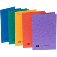 Europa Square Cut Folder Foolscap Assorted Colours Pack 50 Code 4820