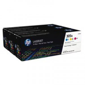 HP 305A Multi Pack Cyan Magenta and Yellow Toner Cartridge Code CF370AM