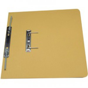 Guildhall Transfer Spring Files 315gsm Capacity 38mm Foolscap Yellow