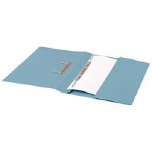 Guildhall Transfer Spring Files with Inside Pocket 315gsm 38mm Foolscap Blue