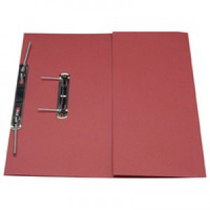 Guildhall Transfer Spring Files with Inside Pocket 315gsm 38mm Foolscap Red