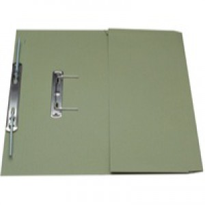 Guildhall Transfer Spring Files with Inside Pocket 315gsm 38mm Foolscap Green