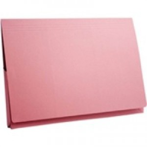 Guildhall Brief Pocket Wallet 14x10in Full Flap 315gsm Pink
