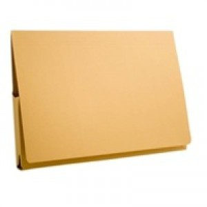 Guildhall Brief Pocket Wallet 14x10in Full Flap 315gsm Yellow