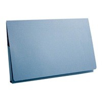 Guildhall Document Wallet Full Flap 315gsm Capacity 35mm Foolscap Blue Code PW2-BLU