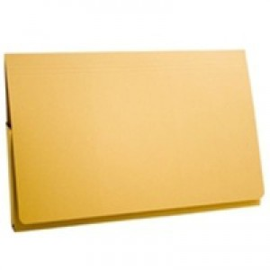 Guildhall Document Wallet Full Flap 315gsm Capacity 35mm Foolscap Yellow Code PW2-YEL