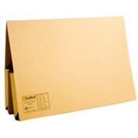 Image for Guildhall Legal Wallet Double Pocket Manilla 315gsm 2x35mm Foolscap Yellow Ref 214 [Pack 25]