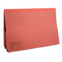 Image for Guildhall Legal Wallet Double Pocket Manilla 315gsm 2x35mm Foolscap Red Ref 214-REDZ [Pack 25]
