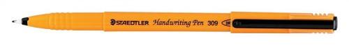Staedtler 309 Handwriting Pen Fibre Tipped 0.8mm Tip 0.6mm Line Black Ref 309-9 [Pack 10]