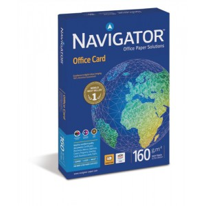 Navigator Office Premium Card High Quality 160gsm A4 Bright White Ref NOC1600001 [250 Sheets]