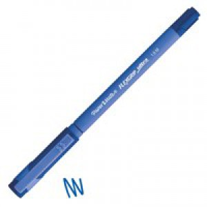 Paper Mate Flexgrip Ultra Ball Point Pen Medium 1.0mm Tip 0.4mm Line Blue Ref S0190153 [Pack 12]